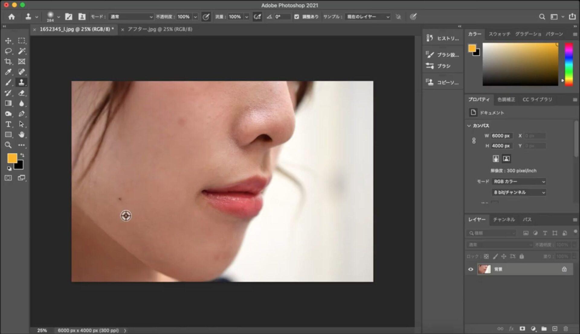 画像加工ソフト≪フォトショップの使い方≫【画像加工】顔のホクロ・傷・アザの消し方